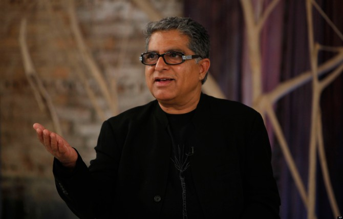 IMAGE DISTRIBUTED FOR SEVENTH GENERATION - Deepak Chopra speaks at the Seventh Generation panel discussion on toxins found in common household products at ABC Carpet & Home on Wednesday, September 19, 2012 in New York City. (Amy Sussman /AP Images for Seventh Generation)